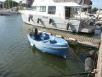 Our dinghy located at the rear of the building.