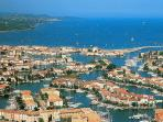 Port Grimaud and the bay of St.Tropez. Our apartment is facing you on the bottom right of the photo.