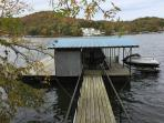 Private dock, bring your boat or watercraft in Alcorn Hollow Cove @ 41 mile marker.