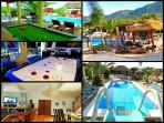 5 Star Villa, Pool Heating, 2 x Heated Jacuzzi's, Free WiFi, Pool Table, Air Hockey, Ping Pong