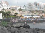 The black sand beach of Playa la Arena