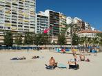 Situación del apartamento visto a pie de playa