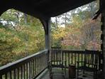 The back deck during fall