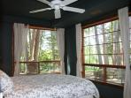 2nd bedroom on lower level…queen bed and amazing views.