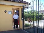 Security guard at Residencial Santillana del MaR.