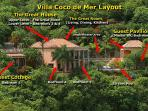Villa Coco de Mer consists of 3 structures on .6 acres overlooking Peter, Cinnamon, & Francis Bays.