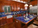 Coco de Mer's chef kitchen is designed for serious chefs and culinary aficionados.