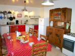 The large kitchen ideal for nice family breakfasts!