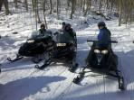 Snowmobiling at 7 Springs