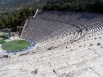 Epidavros ancient theater just 30 min away