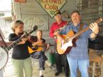 A touch of local music -- A Blue Grass Jam Session at Mast General Store.