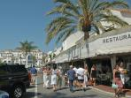 Meander through Marina Puerto Banus restaurants, shops and spot the celebrities!