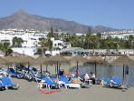 Playas del Duque Beach-front, Blue Flag sandy beaches in Puerto Banus