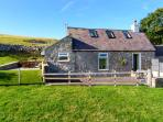 HAFAN HAYDN, detached cottage, with multi-fuel stove, off road parking, and garden, in Dyserth, Ref 18740