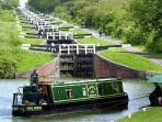 Caen Hill locks; there are 26 of them! Take a boat trip on the canal!