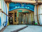 Lost in Santa Surf Shop. Rent a board, schedule a lesson