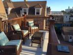 Relax on our private ocean view roof deck. Capemayhollysuitecom