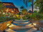 Pangi Gita - Stairs leading from pool to living room