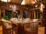 Pangi Gita - Dining room at night
