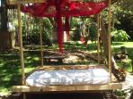 Pergola, optional outdoor bed