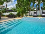 Spectacular (Private) Relaxing Heated Poolside Lounge Area Offers Dining Accommodating Ten (10)...