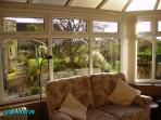 Settee in conservatory