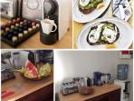 Kitchen is fully equipped including Nespresso machine and gourmet breakfast available each day