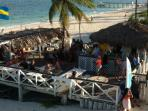 Tony Macaroni's beach bar, just a 5 minute walk away. As is the local 'Fish Fry'
