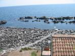stradella di accesso alla discesa a mare