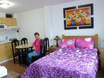 Studio Tritoma Rooms - just 6 km from Lima Airport.  capacity 3 adults. 1 double bed & single bed
