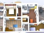 the plan of the apartment