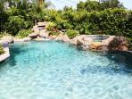 Amazing Pebble-Tec Rock Pool and Spa