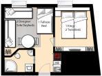 Floorplan 3 pers