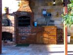 BBQ pit and wood oven