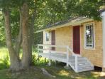 Newly renovated cottage in our backyard with additional living space.