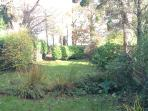 Our large back garden (Winter view!), well fenced for dogs and little ones.