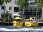 Walk downstairs and hop onto the water taxi for site seeing, waterside dining & bars.