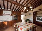 The kitchen of Leonardo's apartment