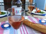 summer evenings at Lou Messugo with rosé and al fresco dining