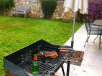 we provide a large charcoal BBQ (with starter pack of charcoal)