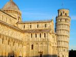 Visit Pisa and her 'Leaning Tower' just 25 minutes away