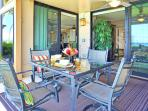 Lanai has easy access to both living area and bedroom.