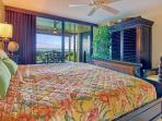 Comfortable Cal-King  bed will leave you relaxed to enjoy paradise! Bedroom has access to the lanai.
