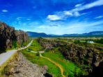 The historical Þingvellir National Park were the Vikings came together.