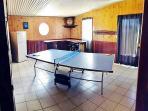 GAMES ROOM BUILT IN BAR REFRIDGERATOR MINI STEREO TABLE TENNIS TABLE