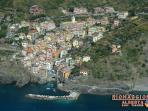 Riomaggiore: aerial view