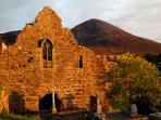 Murrisk Abbey and Croagh Patrick