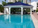 Freshwater Pool with swim up bar just steps from unit 208