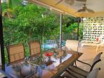 Bravo's private veranda just above the pool
