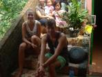 Mas Prio, Faridah, kids and Isabel and Tobias from Holland